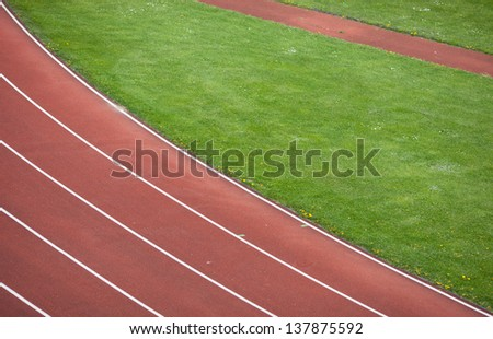 track and field race track  - stock photo