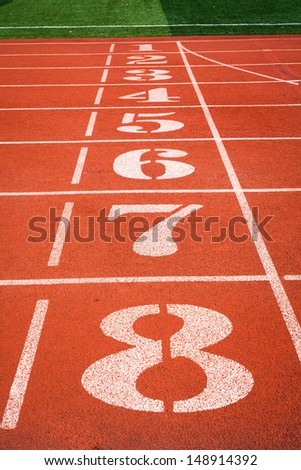 Track and field track - stock photo