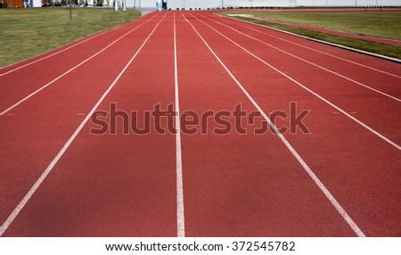 track empty - stock photo