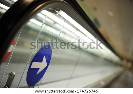track in the terminal - stock photo