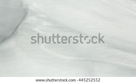 track left by the skis in the snow - stock photo