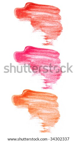 track of makeup on the white background