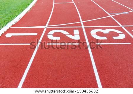 Track start point for running - stock photo