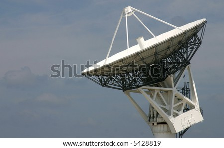 Tracking Satellite Dish against mottled sky PHOTO ID: KSCRadar00006_RJ