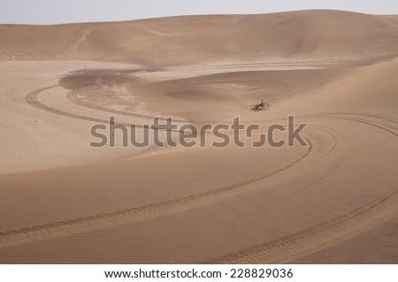 Tracks, Namib Desert near Swakopmund, Namibia, Africa - stock photo