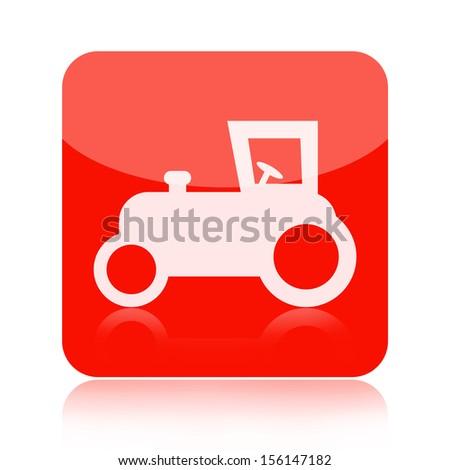 Tractor icon - stock photo