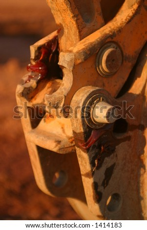 Tractor Joint - stock photo