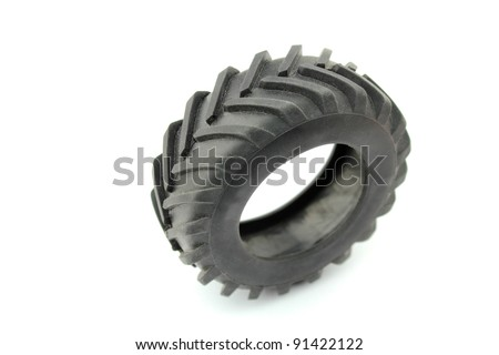 Tractor wheel - stock photo