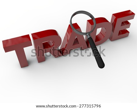 Trade - 3D Text over white Background - stock photo