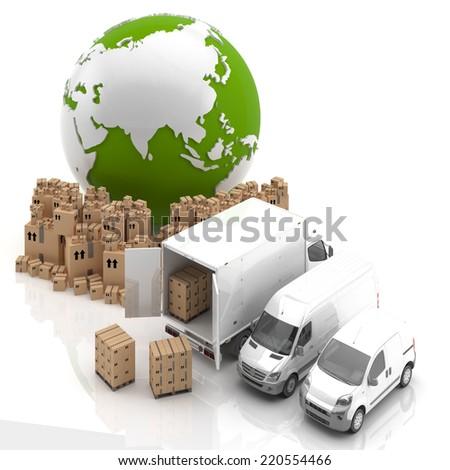 Trade in Asia. Transportation - stock photo