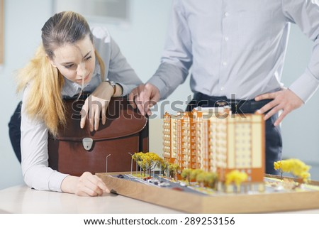 trade in real estate mortgage business dealings people - stock photo