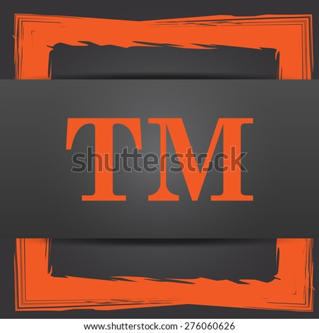 Trade mark icon. Internet button on grey background.