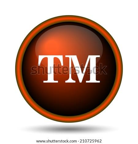 Trade mark icon. Internet button on white background.  - stock photo