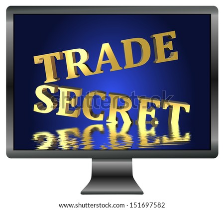 Trade Secret at risk through spying. Security concept for confidential informations  - stock photo