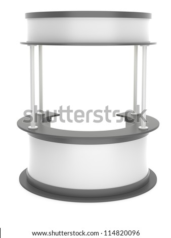 Trade stand on a white background - stock photo