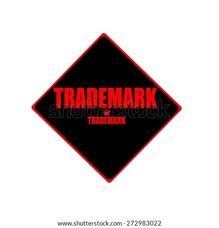 Trademark red stamp text on black background - stock photo