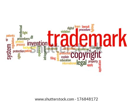 Trademark word cloud - stock photo