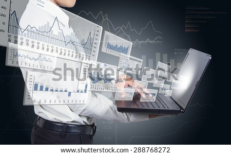 Trading securities over the Internet. - stock photo