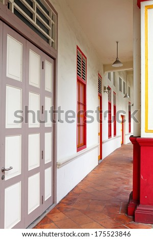 Tradition shop house in Singapore - stock photo