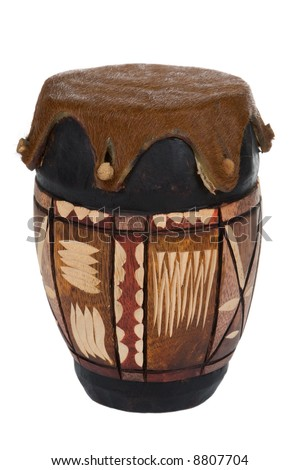 Traditional African drum - stock photo
