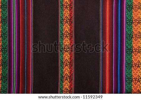 Traditional andean tapestry from northern Argentina and Bolivia. - stock photo