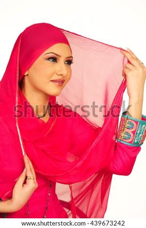 traditional arab model girl - stock photo
