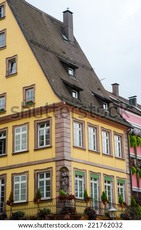Traditional architecture in Offenburg, Germany.