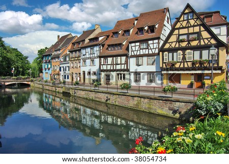 Traditional architecture of Kolmar, France - stock photo
