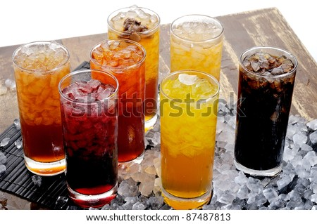 traditional asia drink,fruit and herbal cold drink - stock photo