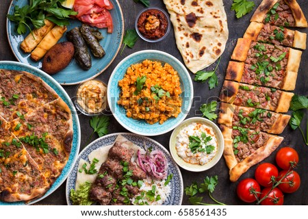 Traditional assorted turkish dishes turkish pizza imagen de archivo traditional assorted turkish dishes turkish pizza imagen de archivo stock 658561435 shutterstock forumfinder Choice Image