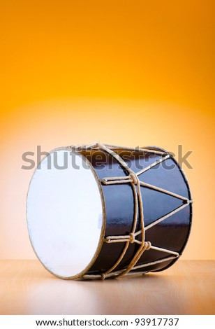 Traditional azeri drum called nagara - stock photo