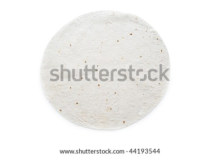 Traditional azeri lavash (bread) isolated on white - stock photo
