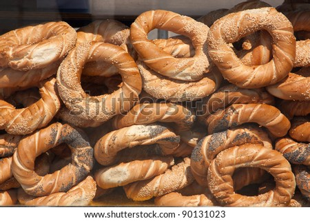 Traditional Bagels from Cracow, Poland