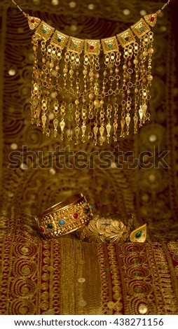 Traditional Bahrain Jewellery called Murtasha