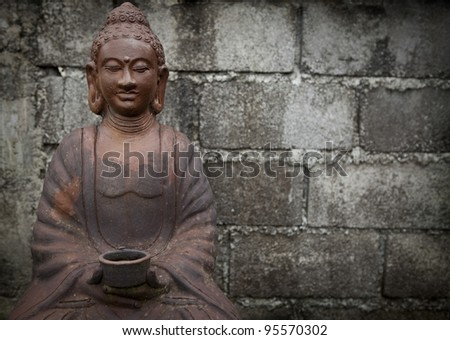 Traditional balinese statue. - stock photo