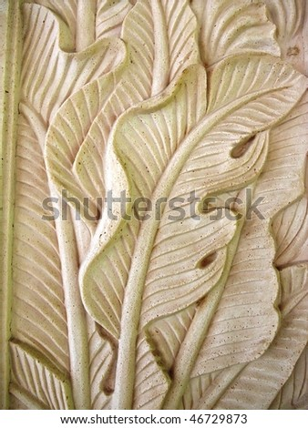 Traditional Balinese stone carving on sandstone - stock photo
