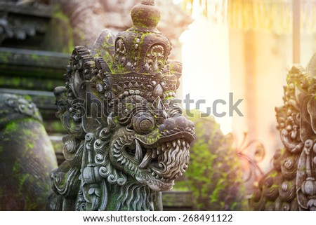 Traditional Balinese stone sculpture art and culture at Bali,  Indonesia - stock photo