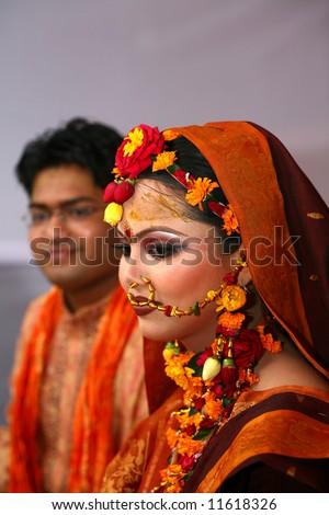 Traditional Bangladeshi wedding, Dhaka Bangladesh - stock photo