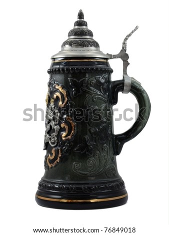 Traditional beer mug - stock photo