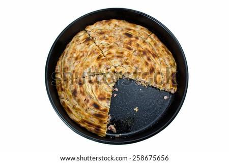 traditional bosnian burek meat pie - stock photo
