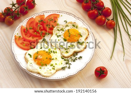 Traditional breakfast eggs