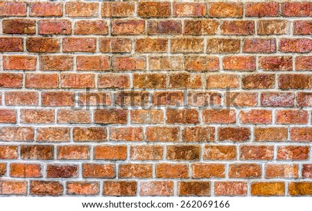 Traditional brick wall for background, texture, exterior and interior design - stock photo