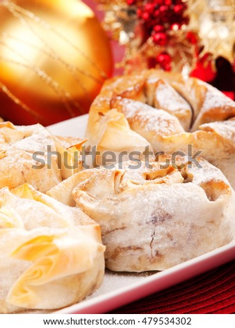 Traditional bulgarian sweet bakery with pumpkin