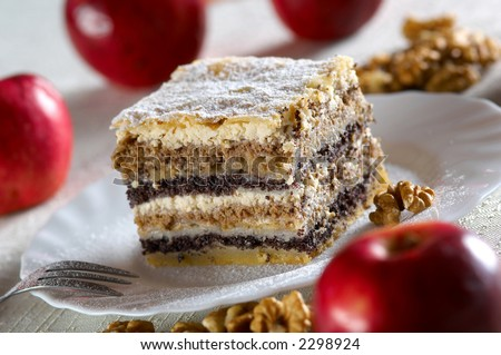 Traditional cake from Slovenia named Gibanica - stock photo