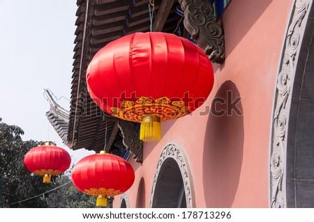 Traditional Chinese building, Chongqing, China - stock photo
