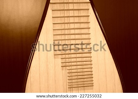 traditional Chinese Musical Instruments pipa, closeup of photo  - stock photo
