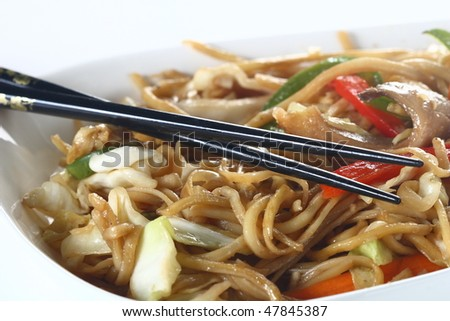Traditional chinese noodles - stock photo
