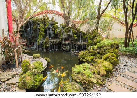 Traditional Chinese private garden,Beautiful Chinese garden