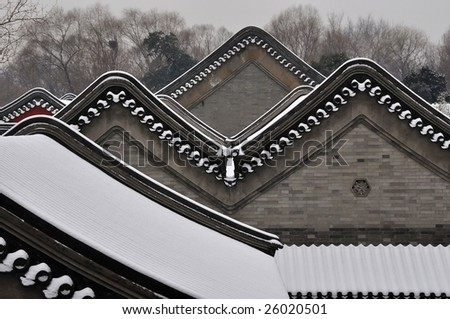 Traditional Chinese roofs - stock photo