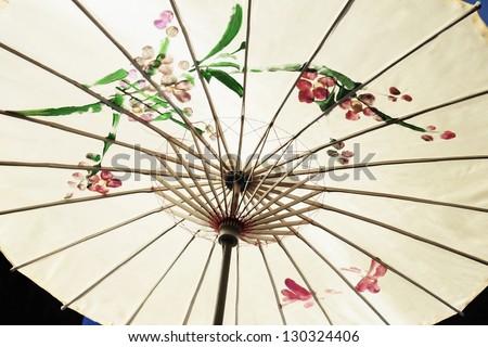 Traditional chinese umbrella - stock photo
